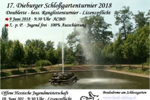 Flugblatt Schloßgartenturnier 2018